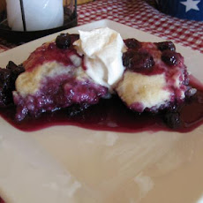 Blueberry Peach Stove Top Dumplings