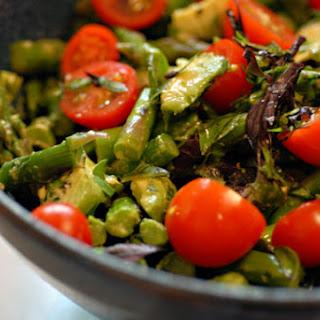 Tomato Asparagus Basil Salad Recipes
