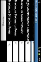 Screenshot of BluetoothRobotControl