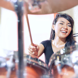 Drummer by Widianto Didiet - People Musicians & Entertainers