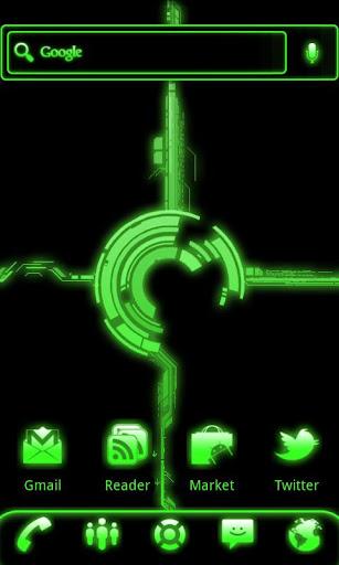 ADW Theme Green Glow Pro