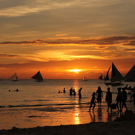 boracay sunset by Botet Cabangal - Landscapes Sunsets & Sunrises