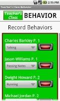 Screenshot of Teacher's Class BEHAVIOR FREE