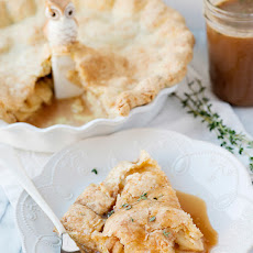 Apple Pie with Cheddar Thyme Crust