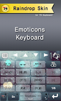 Screenshot of Raindrop Skin for TS Keyboard