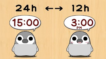 Screenshot of Pesoguin Clock Widget -Penguin