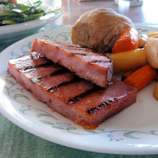 Molasses-Glazed Ham Steak
