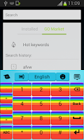 Screenshot of Keyboard Cute Rainbow
