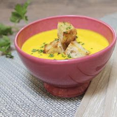 Pumpkin Soup With Spiced Croutons