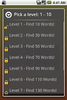 Screenshot of Wordaholic - Free Word Find