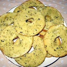 Salt and Garlic Bagel Chips