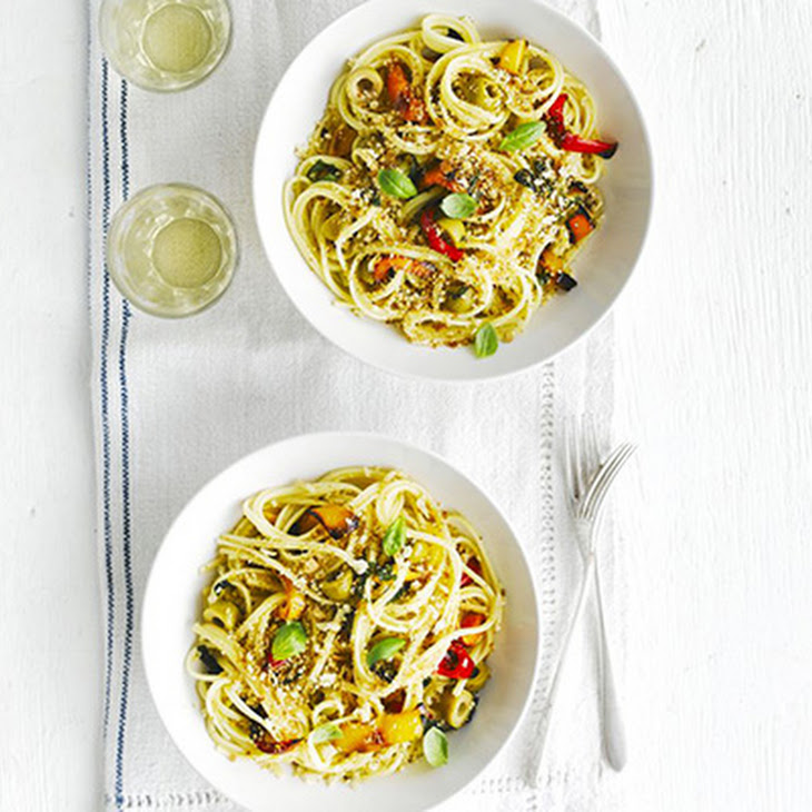 Linguine With Boquerones, Peppers, And Breadcrumbs Recipes ...