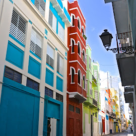 Colorful Puerto Rico by Kathy Suttles - City,  Street & Park  Neighborhoods