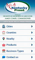Screenshot of Kentucky Proud Locater