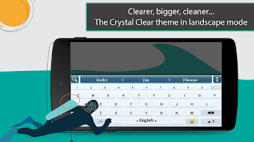 Screenshot of ai.type Crystal Clear Theme