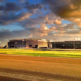 Met Life Stadium by the racetrack by Jëff Mürray - Sports & Fitness American and Canadian football ( metlife, stadium, racetrack )