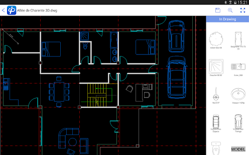 Cad pockets dwg editor viewer free android app market for Online cad editor