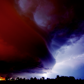 Lightning by Sean Price - Landscapes Weather ( clouds, lightning, wide angle, ground, storm )