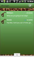 Screenshot of GO SMS THEME/GreenGiraffe