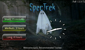 Screenshot of SpecTrek
