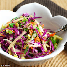 Apple 'n Cabbage Slaw With A Light Cider Vinaigrette
