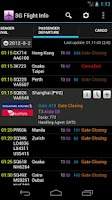 Screenshot of Singapore Flight Info