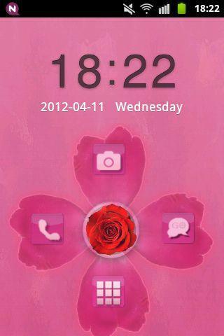 儲物櫃主題粉紅色的可愛的玫瑰 GO Locker Theme