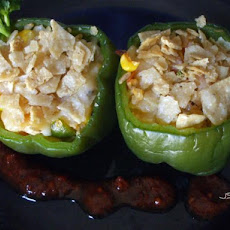 Vegetable Chili Stuffed Peppers