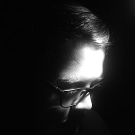 The Half-Light of Early Dawn.. by Utsav Dan - People Portraits of Men ( Selfie, self shot, portrait, self portrait )
