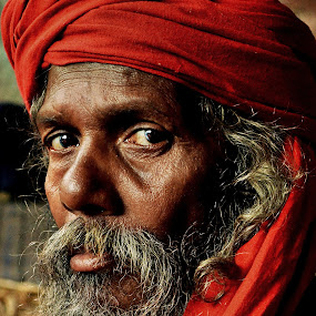 The Look by Arnab Bhattacharyya - People Portraits of Men