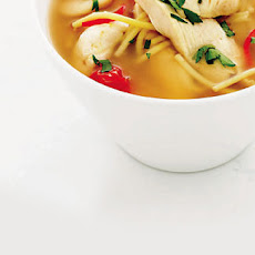 Chicken, Pasta And Butter Bean Soup
