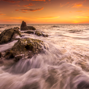 Bungai Sunset by Andrew Micheal - Landscapes Waterscapes