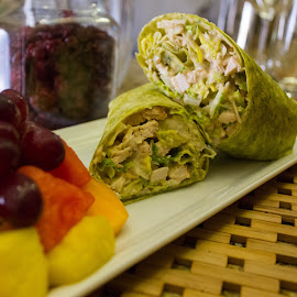 Chicken Caesar Wrap by Danielle Benbeneck - Food & Drink Plated Food ( dinner, wrap, plated, food, restaurant,  )