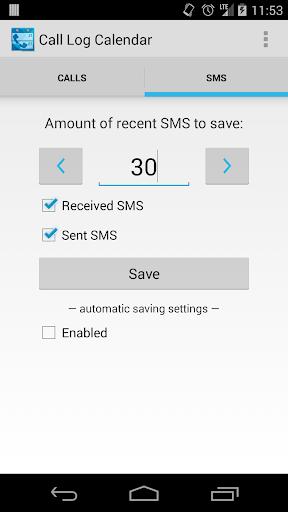 Call Log Calendar - screenshot