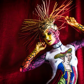 Anima Arcana by Traven Milovich - People Body Art/Tattoos ( model, girl, color, woman, body painting, beautiful )
