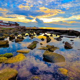 Rockin' In The Sunset by Alan Potter - Landscapes Sunsets & Sunrises
