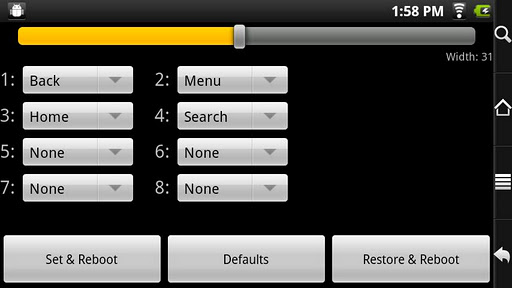 Buttons for RW Rooted Archos