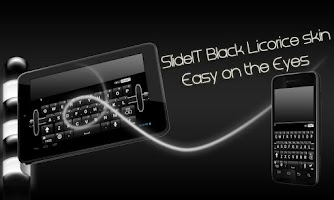 Screenshot of SlideIT Black Licorice Skin