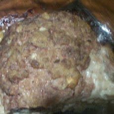 Butt Ugly but Delicious Hash Brown Potato Stuffed Meatloaf