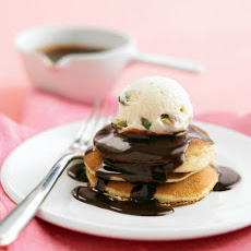 Silver-Dollar Pancake Sundaes with Chocolate Hazelnut Sauce