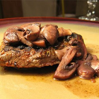 Thyme-Rubbed Steaks with Sauteed Mushrooms