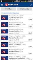 Screenshot of Mi Banco Mobile