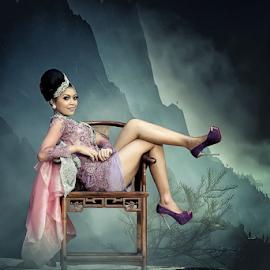 purple in dark by Mustang Salim - Digital Art People