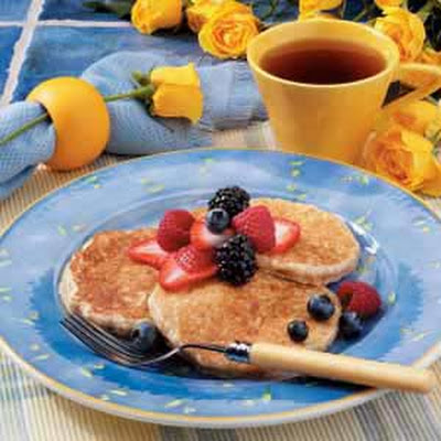 Hearty Oatmeal Pancakes