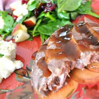 Slow Cooker Apple-Scented Venison Roast