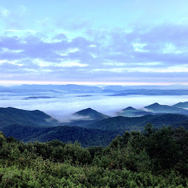 Appalachian Trail, Brushy Mountain, VA by Lou Plummer - Instagram & Mobile iPhone ( clouds, appalachian trail, mountain, at, landscape,  )