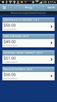Screenshot of Ameris Bank Personal Mobile