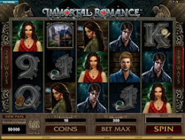 Screenshot of Immortal Romance. free slot