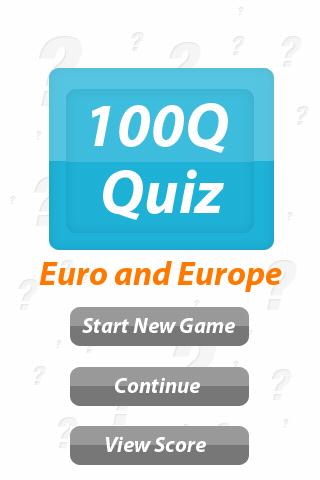 Europe the Euro - 100Q Quiz