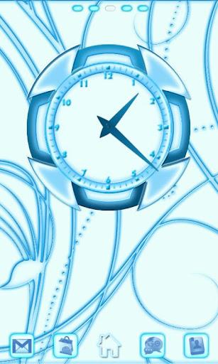 Blue Chill Clock 2